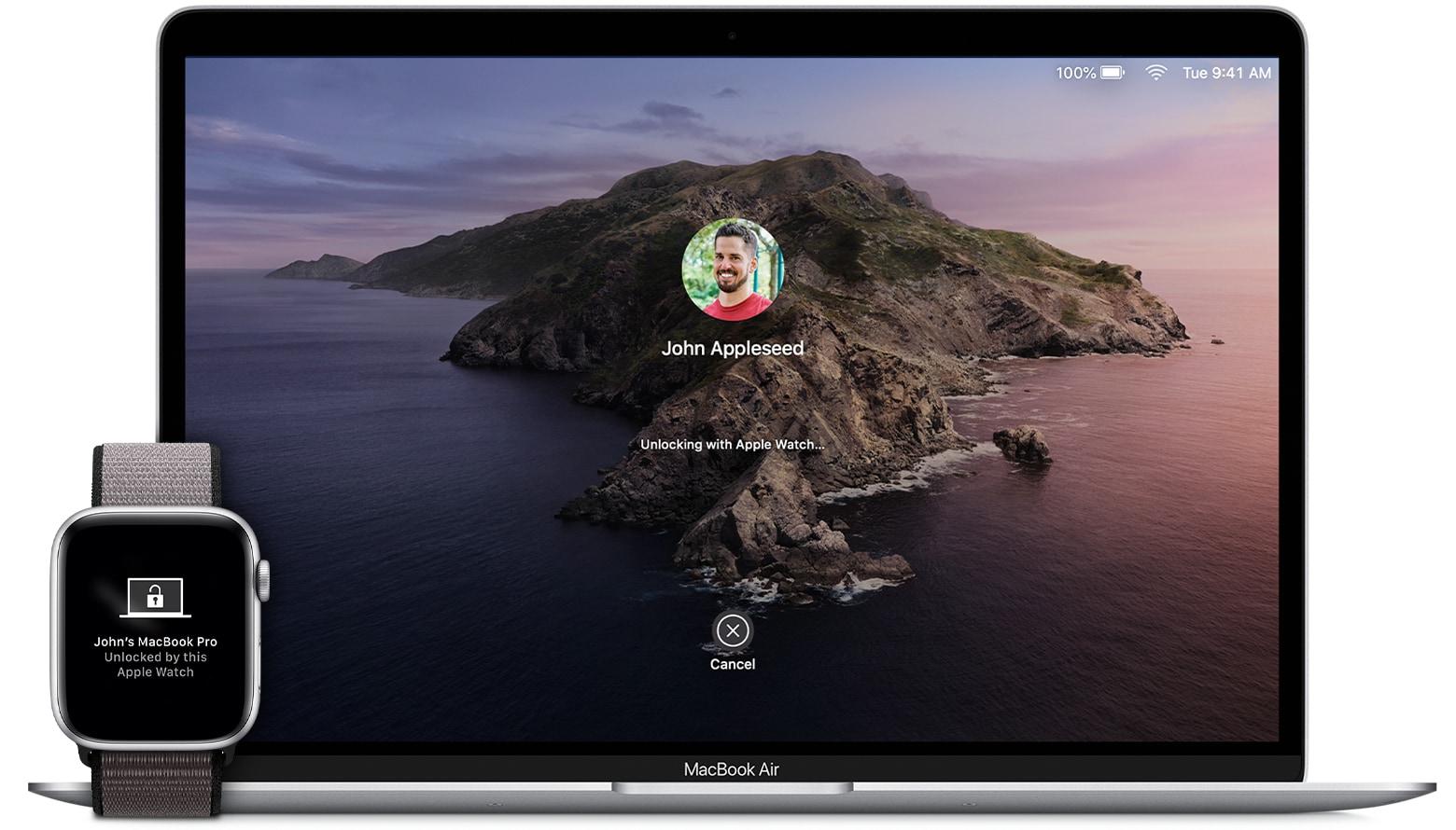 Apple Watch Unlock in action.