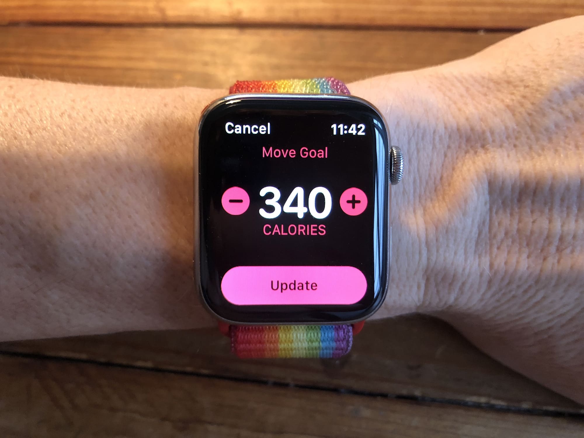 For best results, you should tailor your Apple Watch Move goal to suit your personal situation.