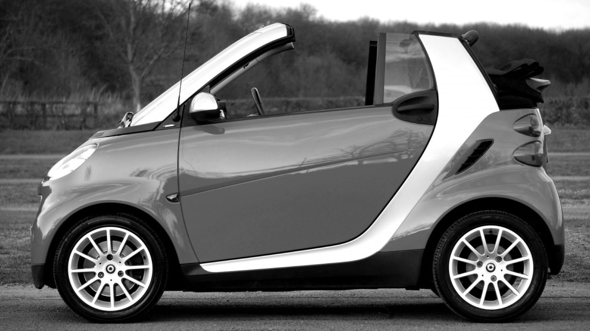 Smart Car convertible.