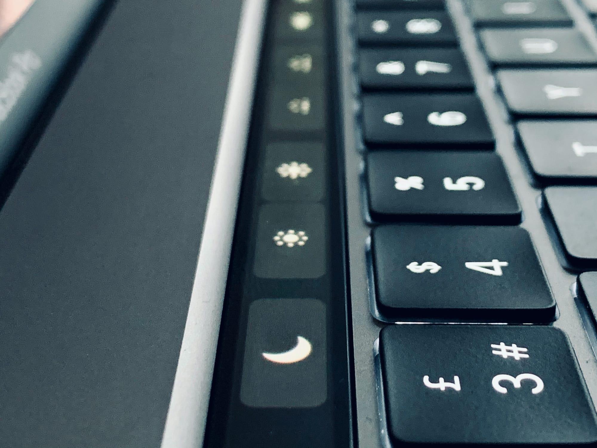 option Touch Bar Mac