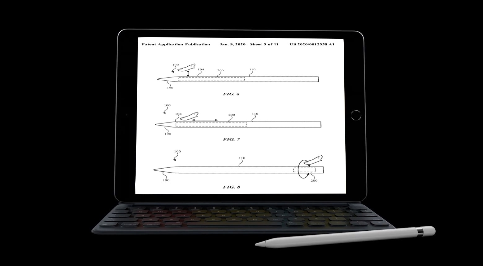 A proposed Apple Pencil with more controls.