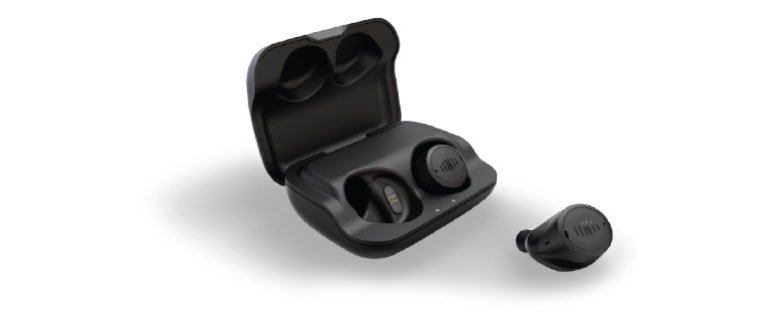Nuheara IQBuds2 Max with charging case