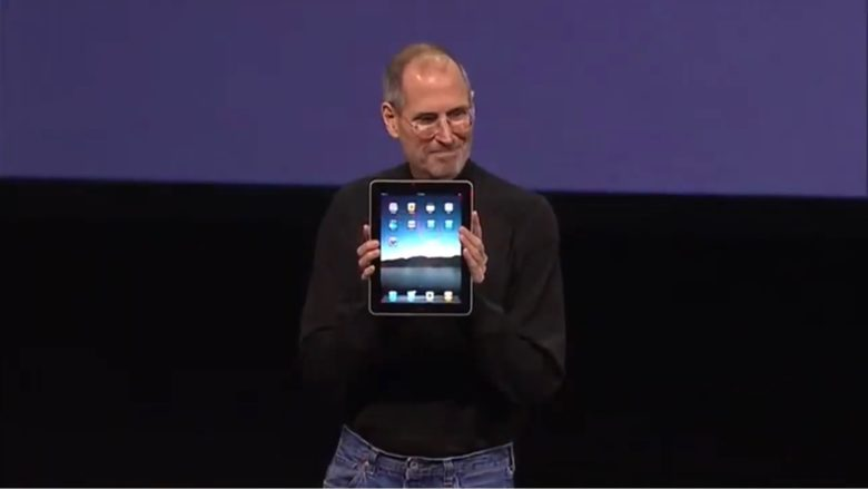 Steve Jobs with the original iPad