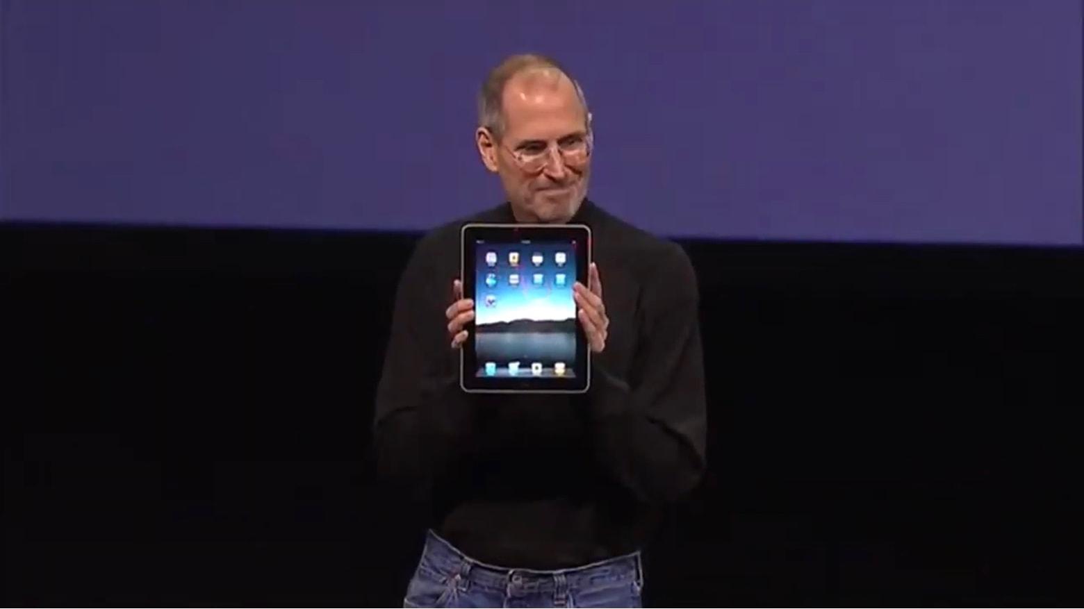 Steve Jobs with the original iPad