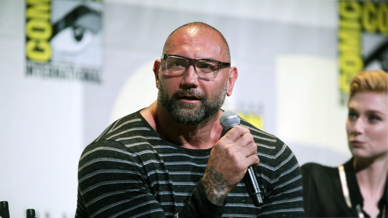 Dave Bautista speaking at the 2016 San Diego Comic Con