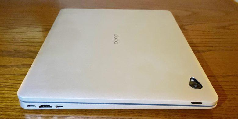 Doqo iPad keyboard left edge