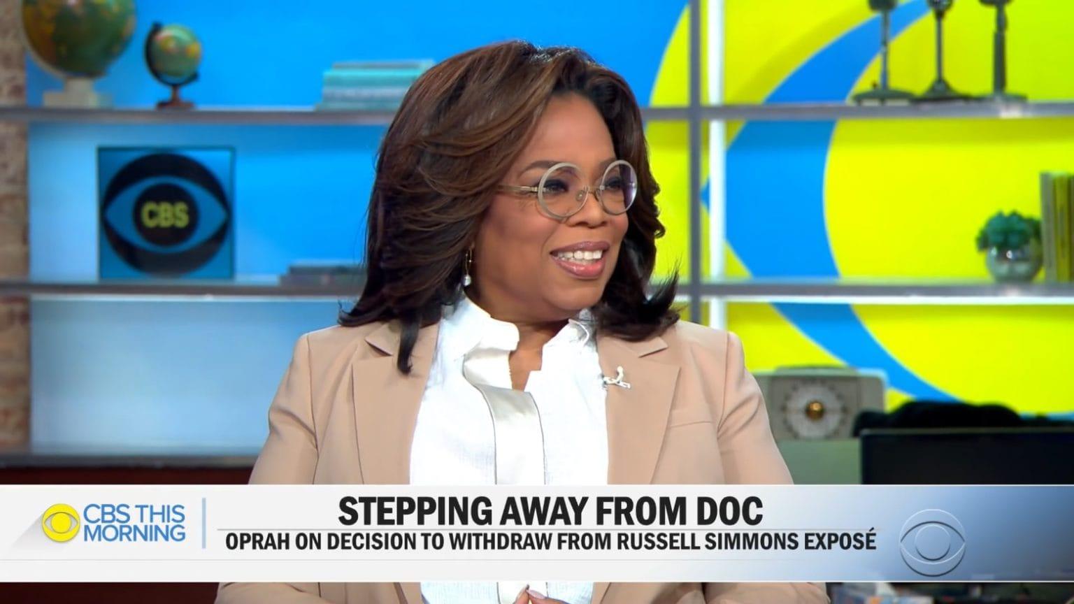 Oprah Winfrey talks to CBSNews