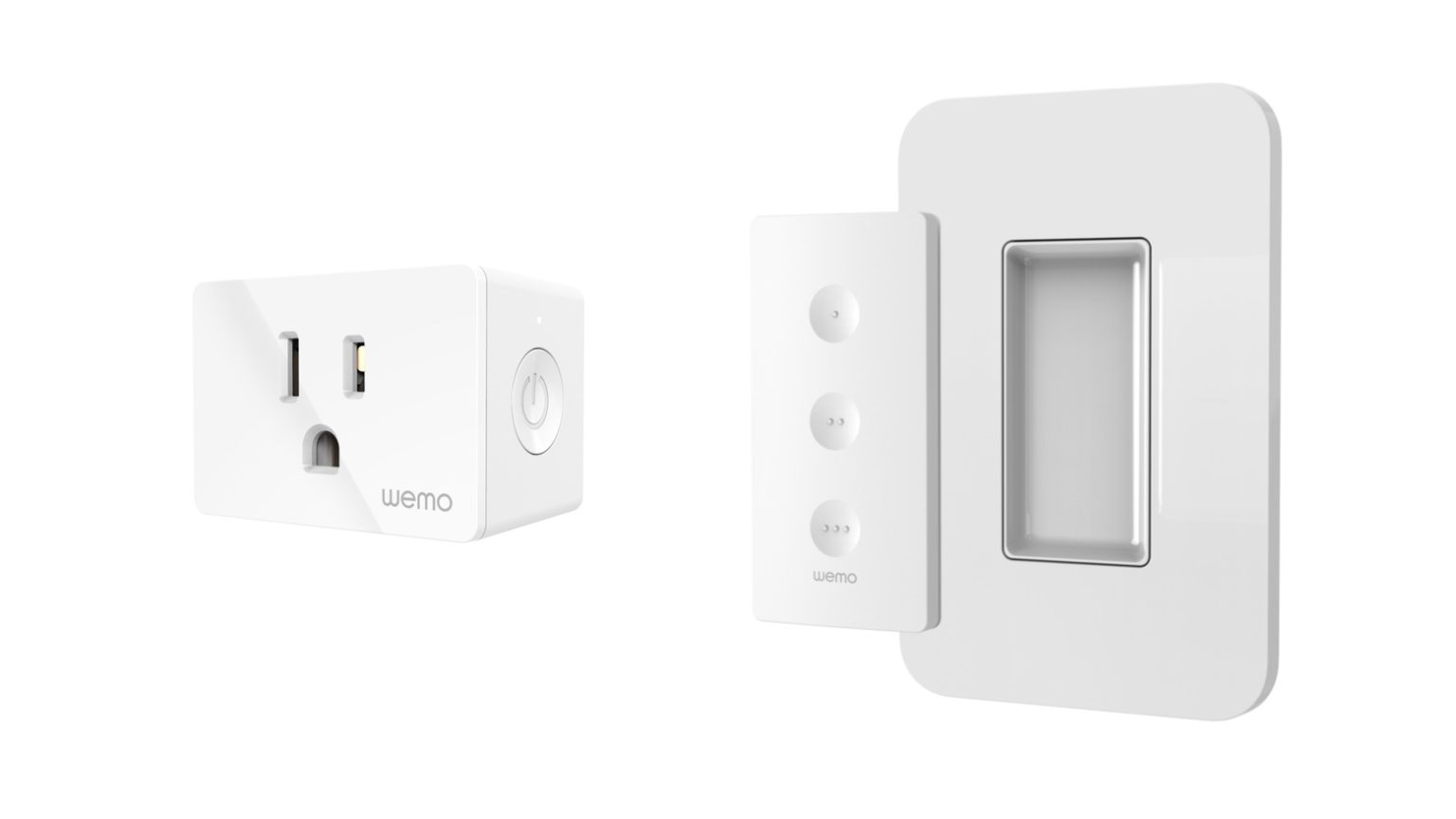 The Wemo WiFi Smart Plug both support HomeKit