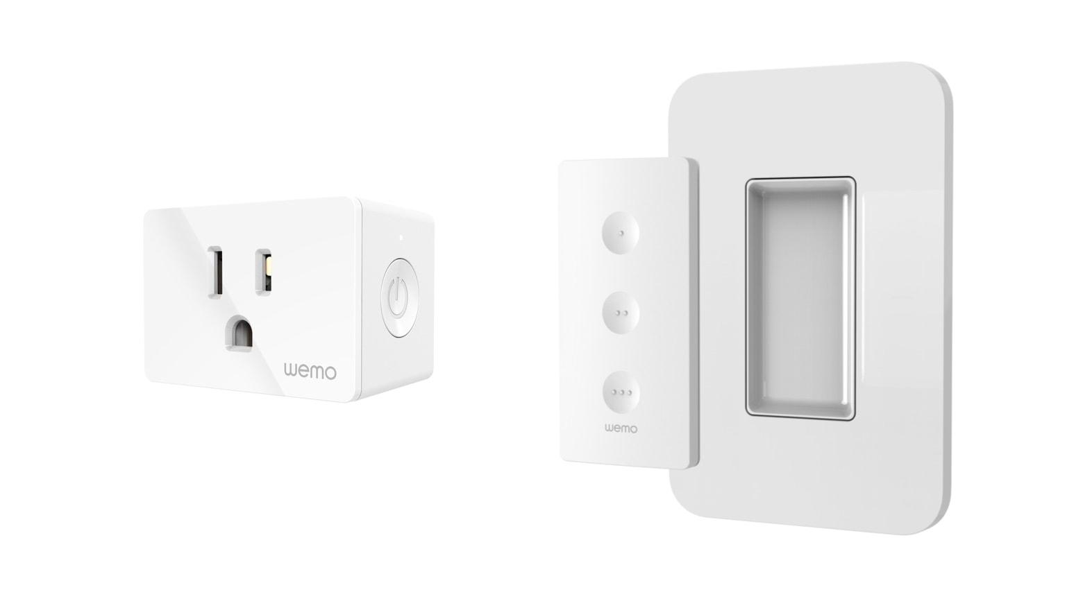 The Wemo WiFi Smart Plug both support HomeKit