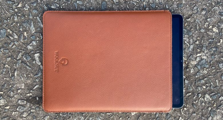 Woolnut Leather Sleeve with 12.9-inch iPad Pro