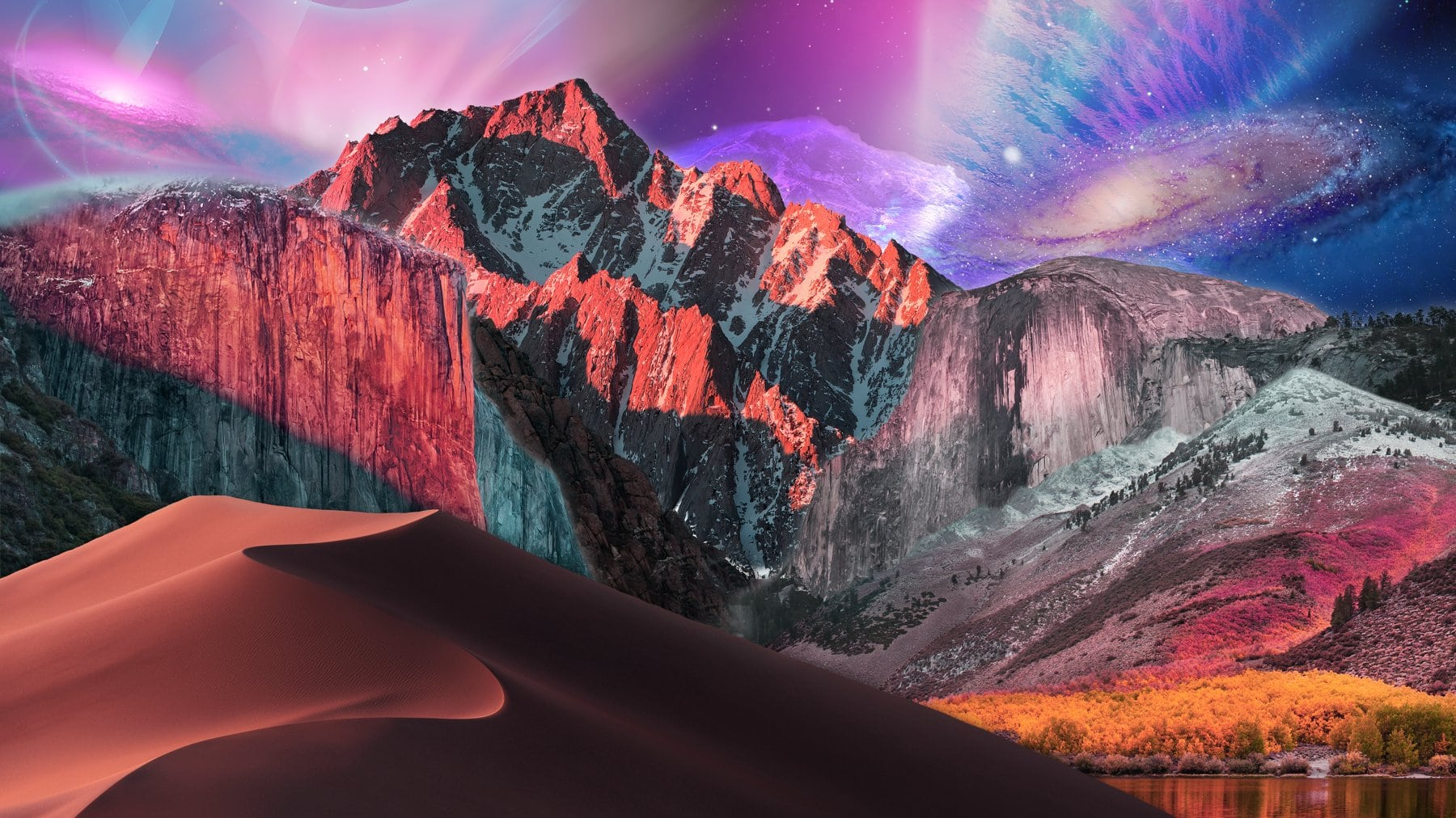 Apple fan creates a Frankenstein's monster of every macOS wallpaper combined