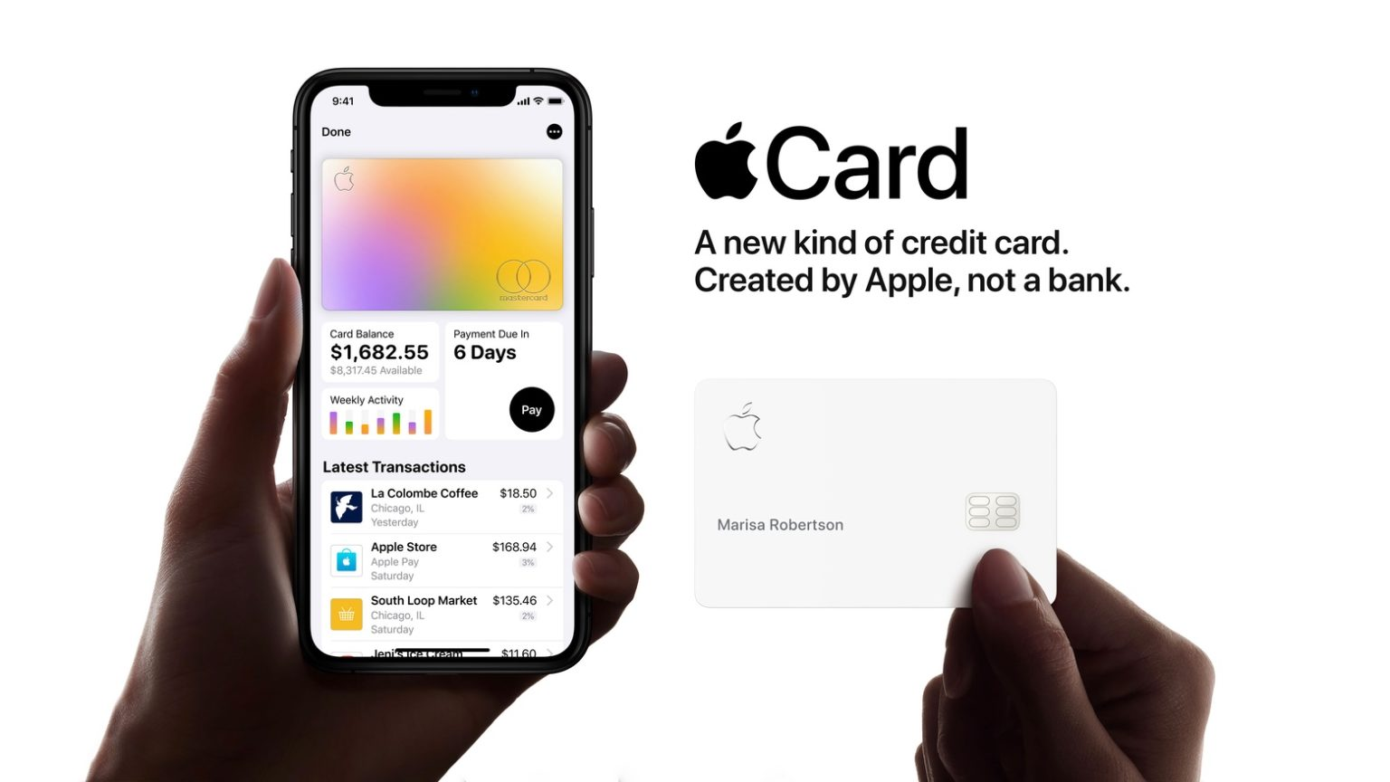 Apple Card is underwritten by Goldman Sachs.