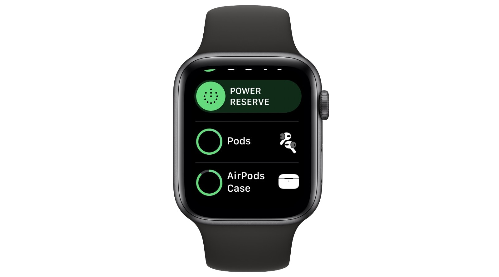 Check your AirPods' battery from the Apple Watch.