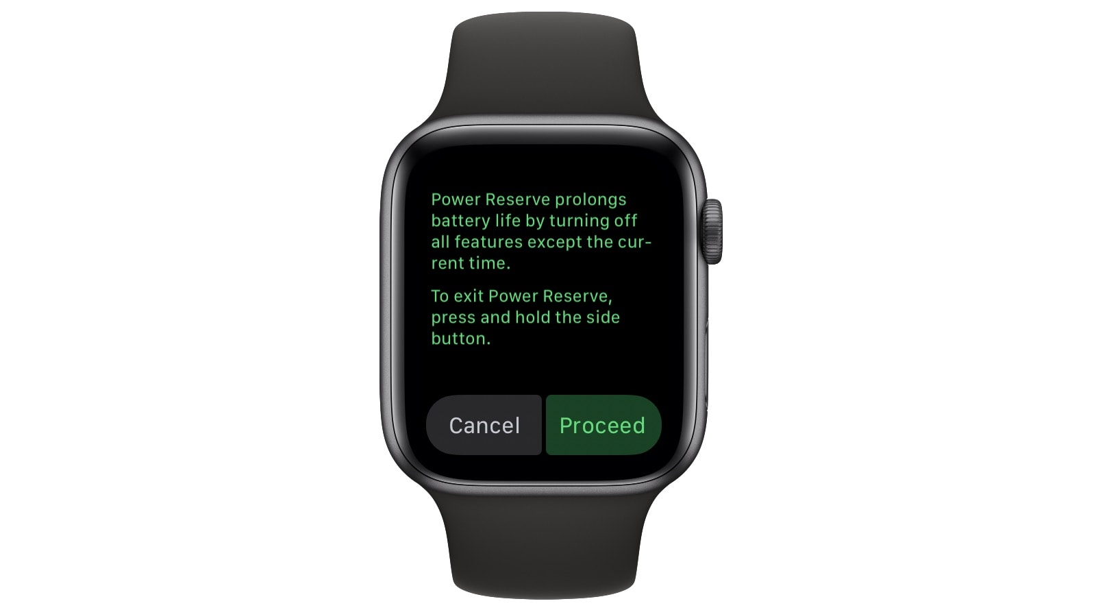 Apple Watch's Power Reserve.
