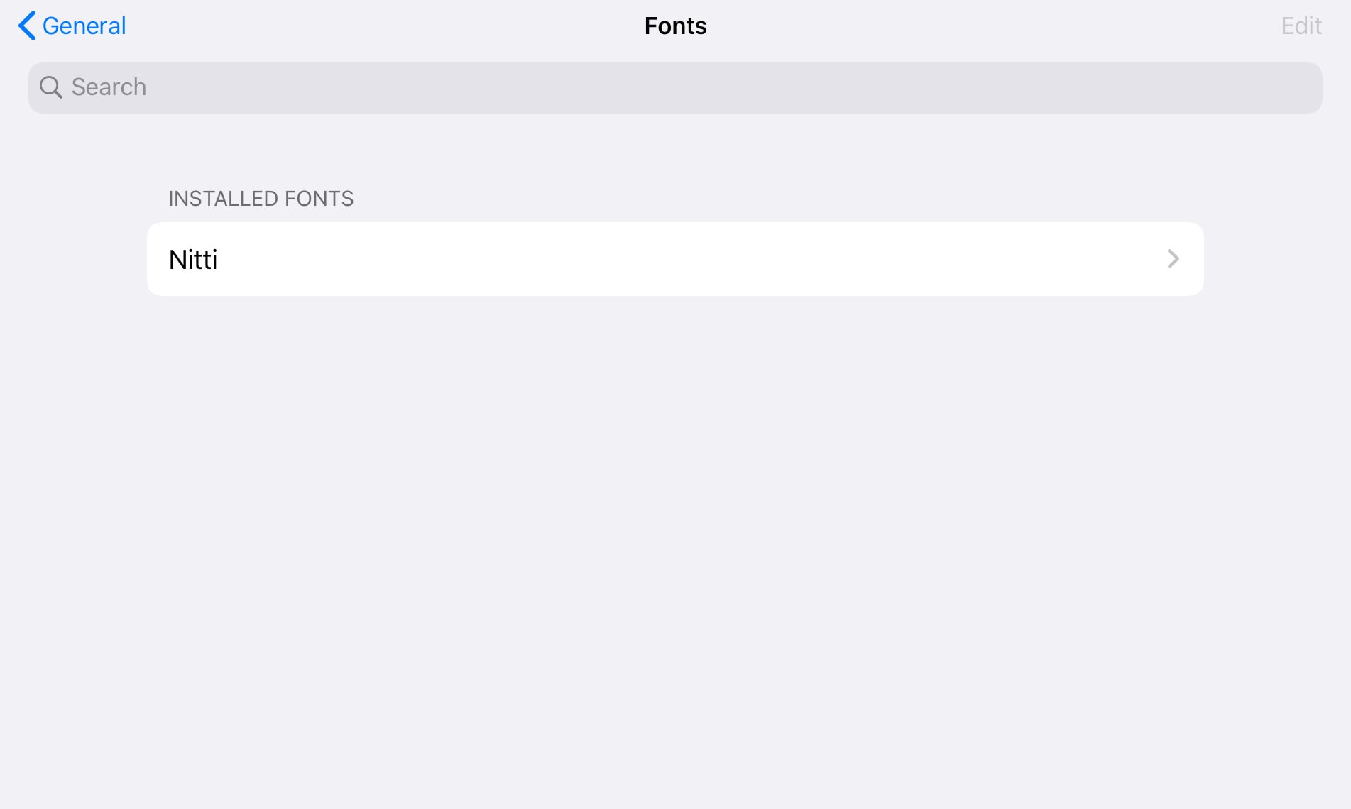 All your installed iOS fonts show up in the Settings app.