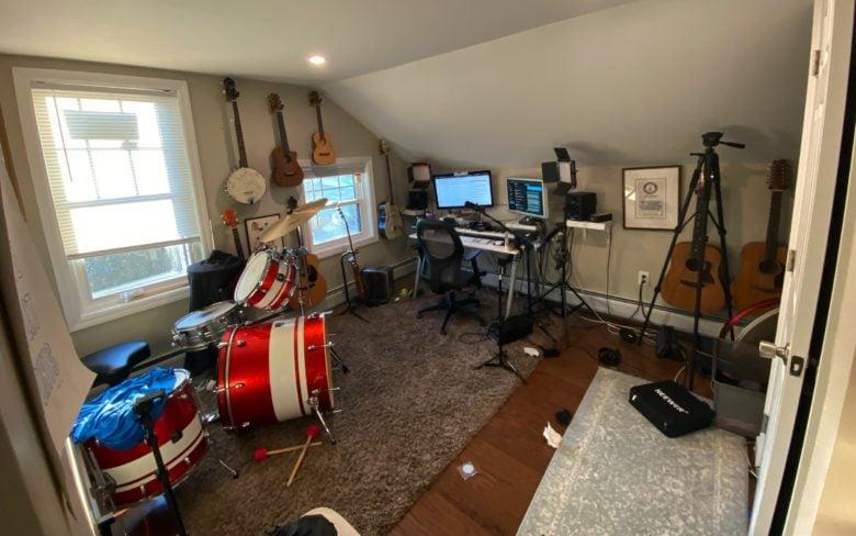 Jonathan Mann's recording setup.