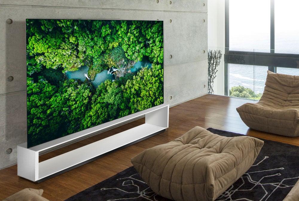 LG's 88-inch 8K, OLED smart tv