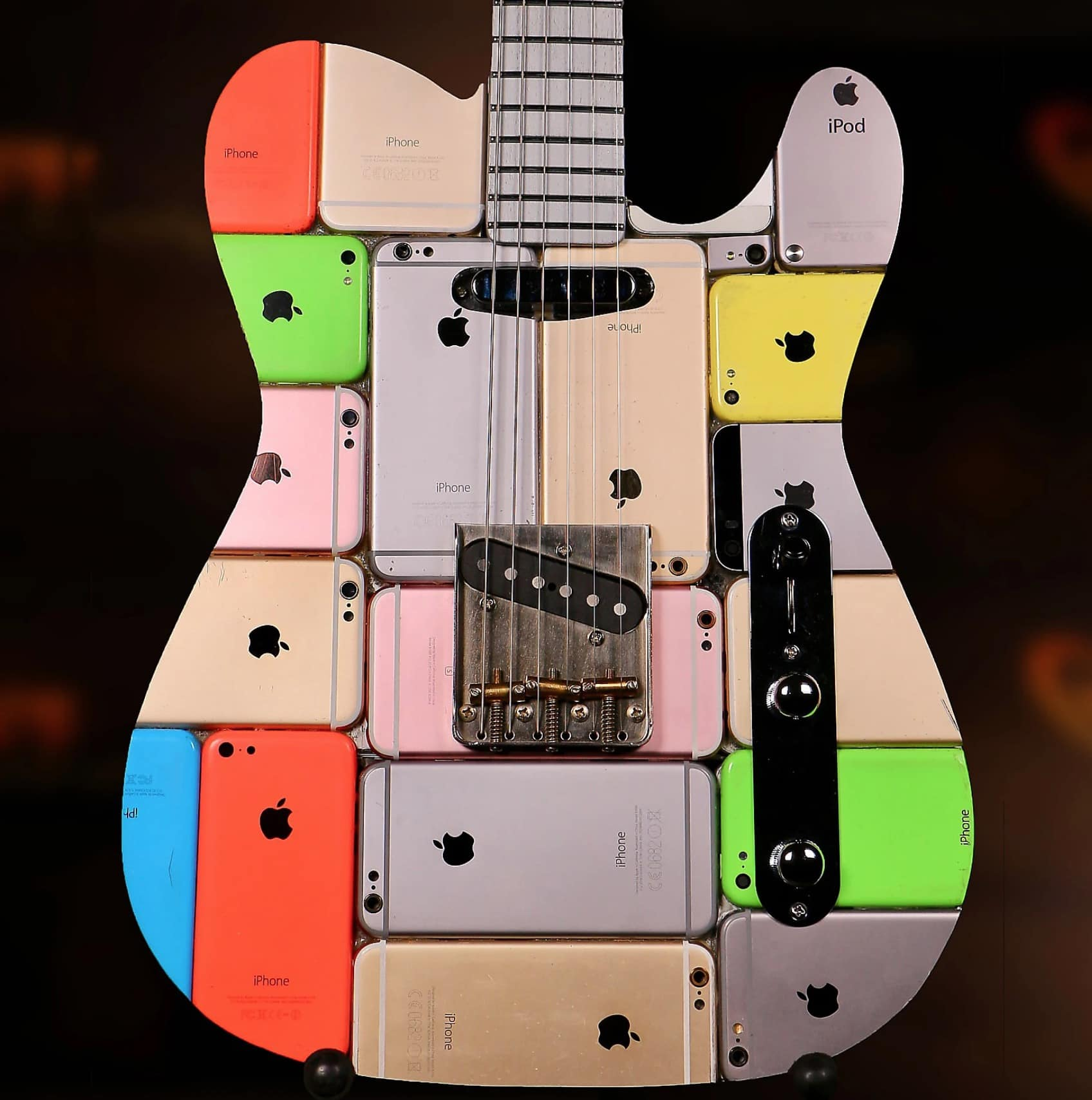 We can't speak to how good this guitar made of iPhones sounds.
