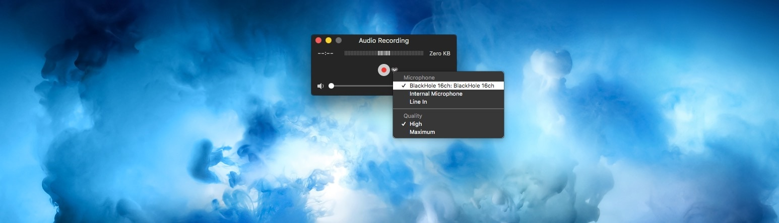Set BlackHole as the input source for your recording app.
