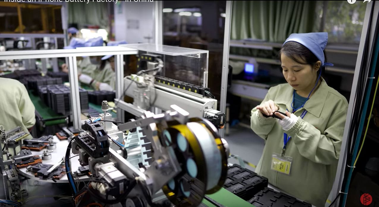 Pisen battery factory in China