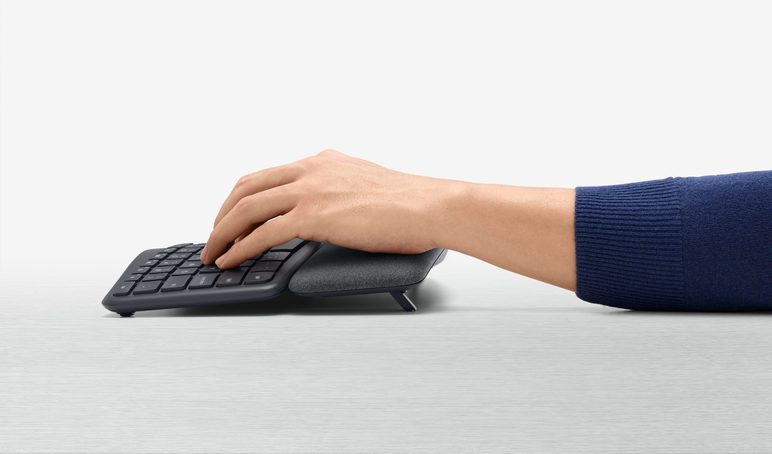 With the Logitech Ergo K860 ergonomic keyboard, it's all about comfort (and reduced muscle fatigue).