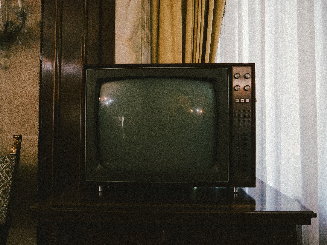 Switched off TV
