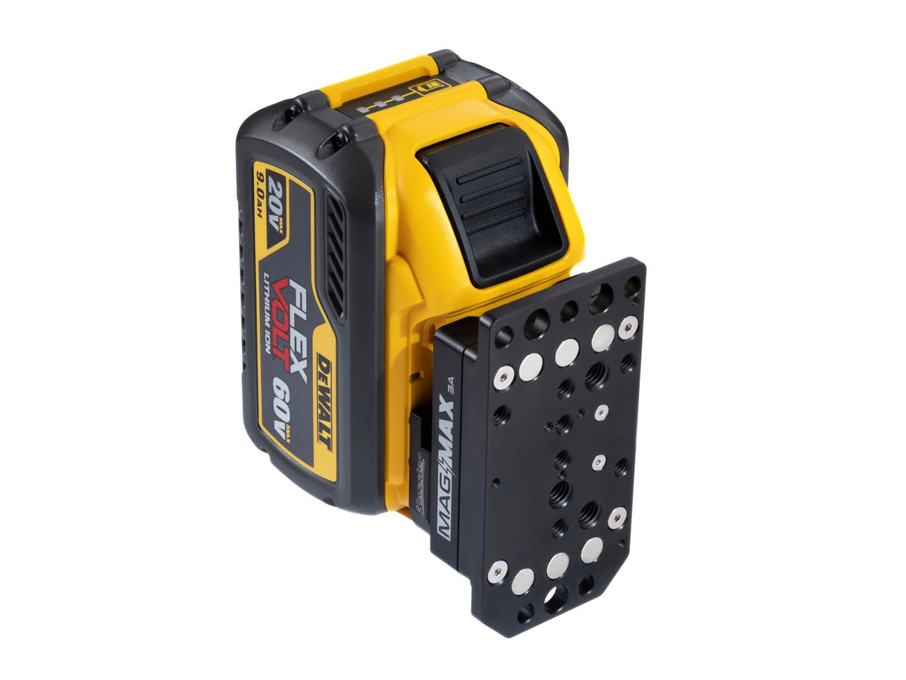 connects to a DeWalt battery