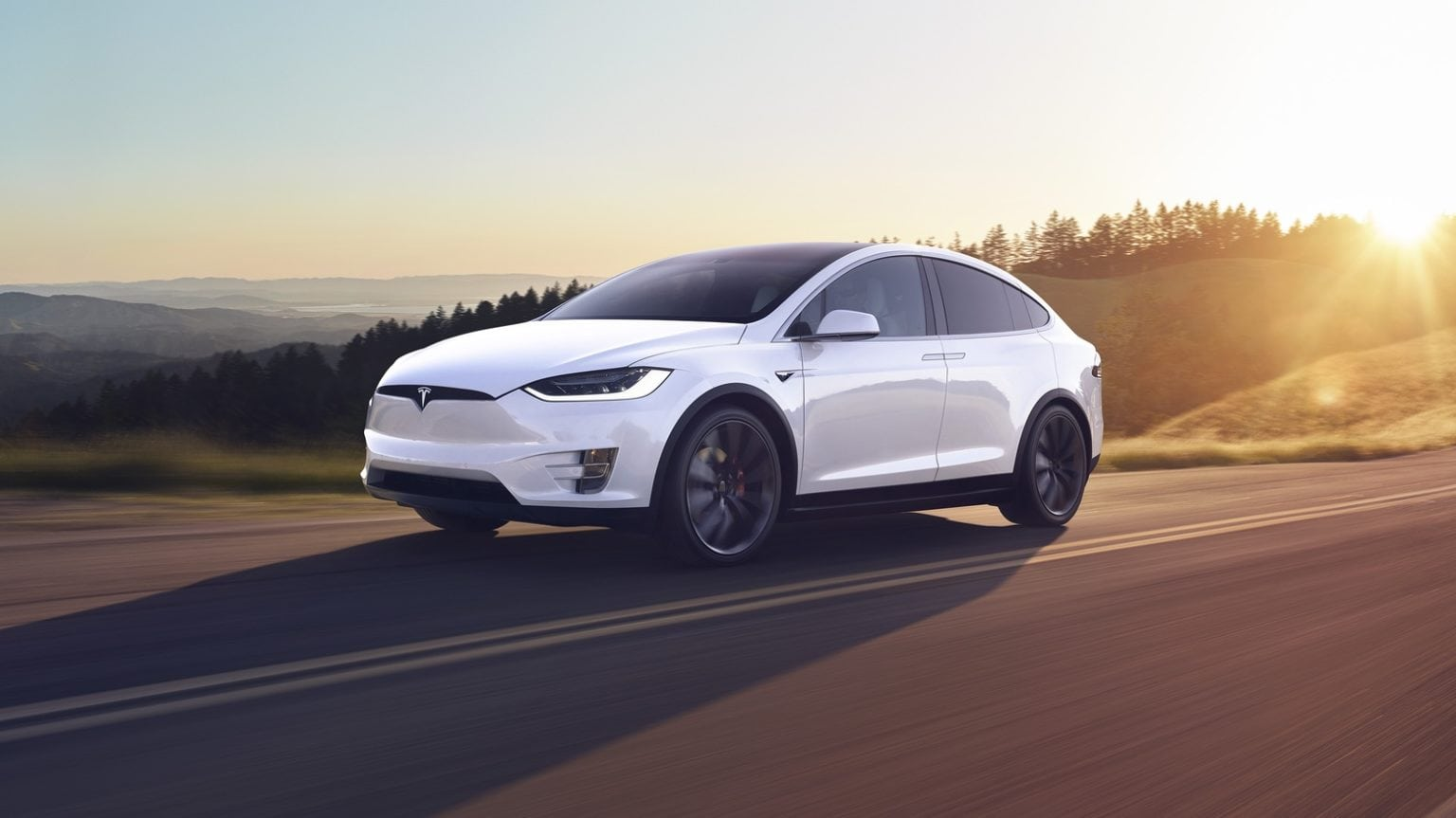 A Tesla Model X similar to this one crashed in 2018.