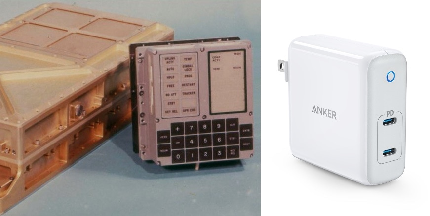 Apollo 11 Guidance Computer with Anker PowerPort Atom PD 2