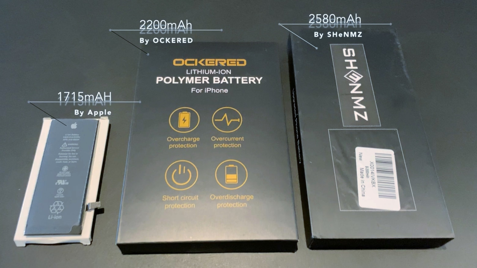 High-capacity iPhone battery alternatives are available.