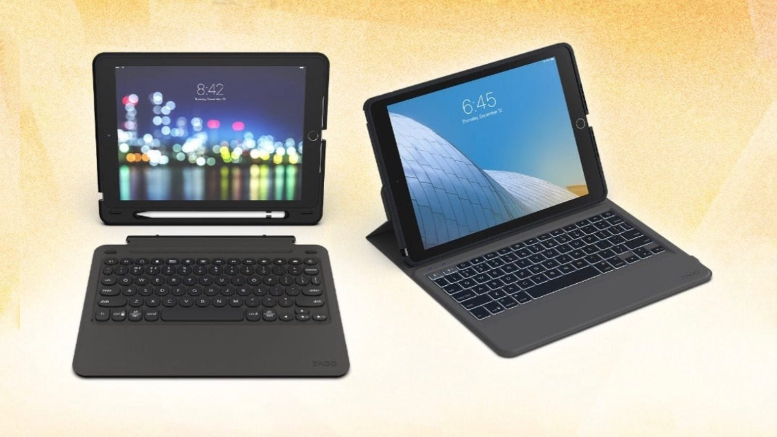 Zagg Slim Book Go and Zagg Rugged Messenger for 10.2-inch iPad