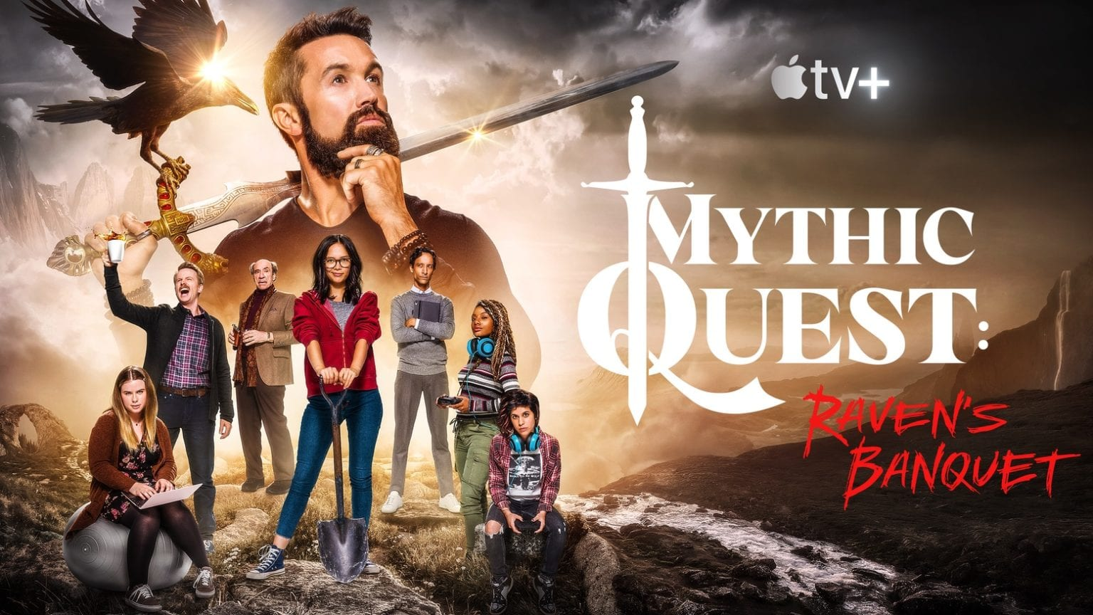 All 9 episodes of Mythic Quest: Raven's Banquet are live on Apple TV+