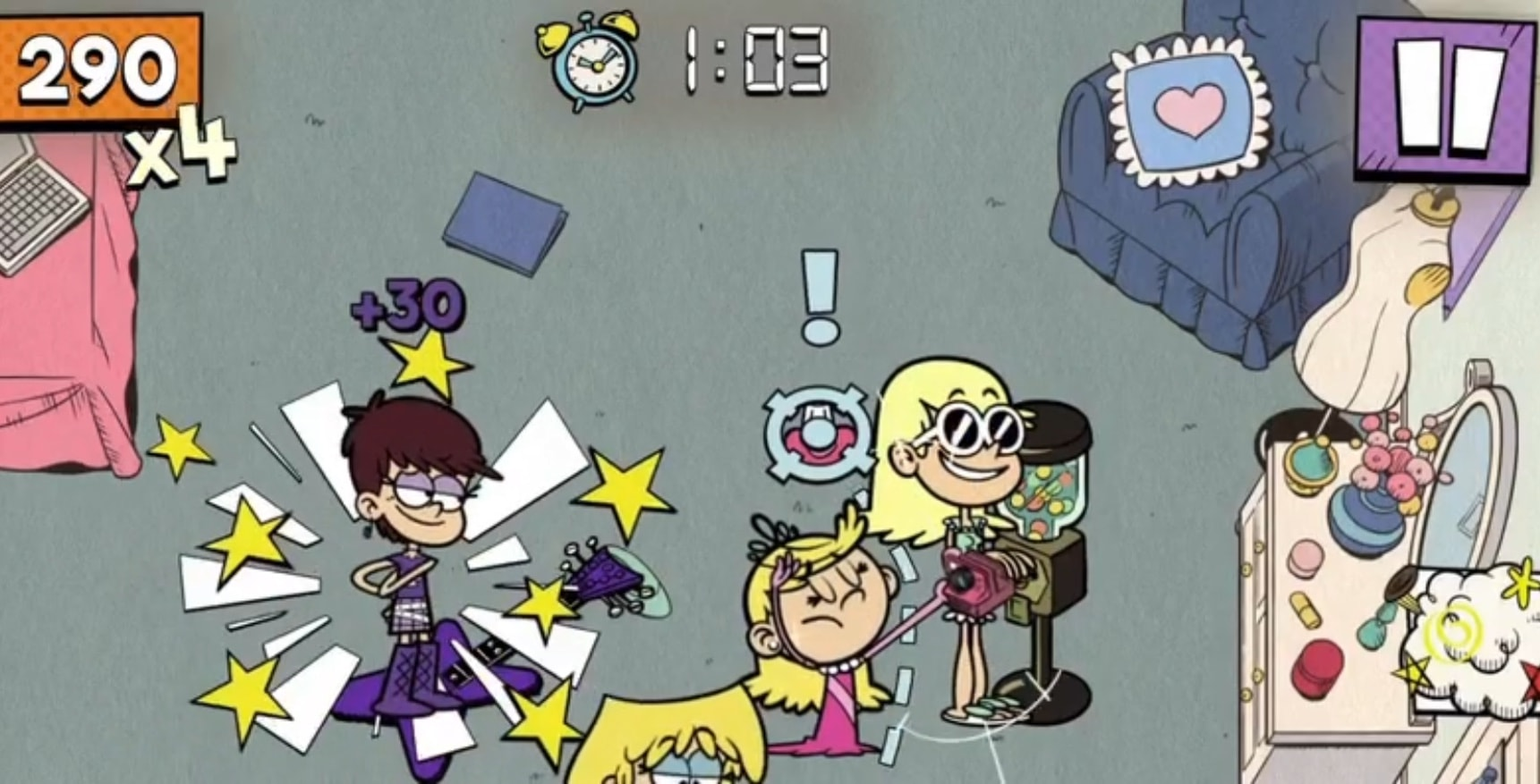 """Loud House: Outta Control"" on Apple Arcade"