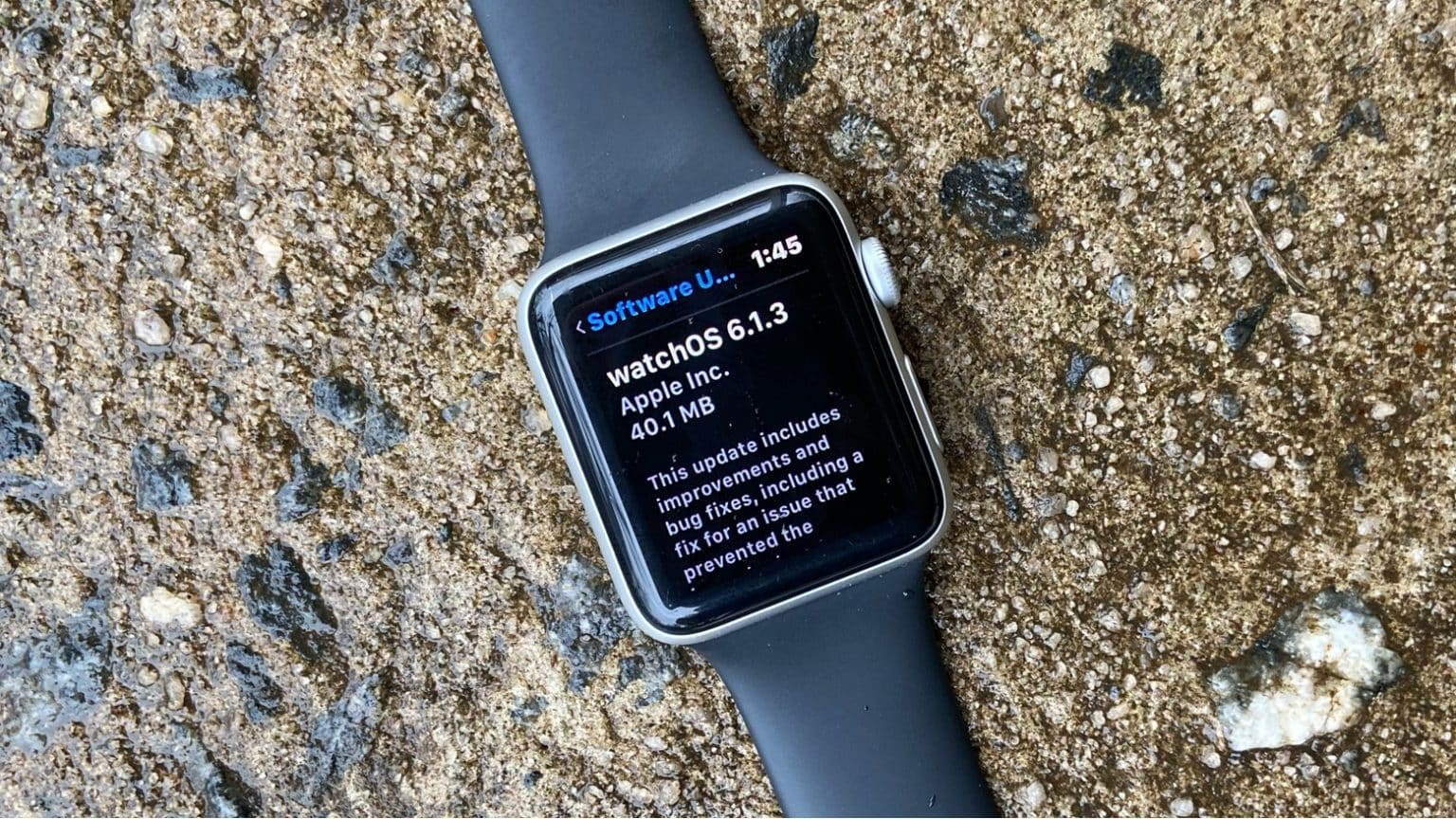 watchOS 6.1.3 update is available now