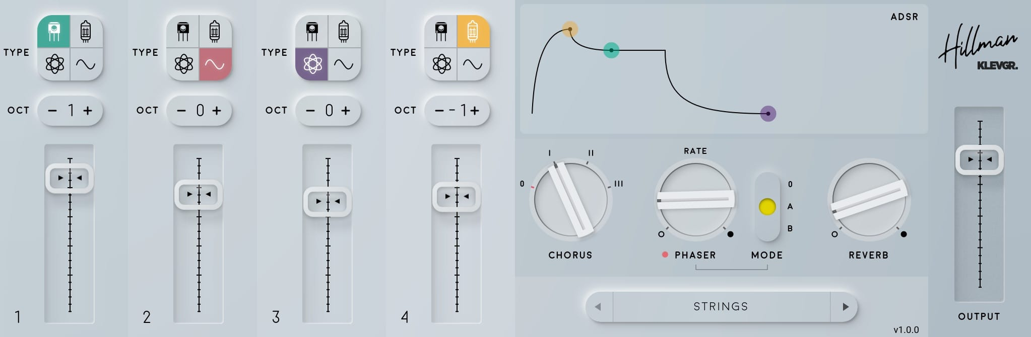 What a beauty! Klevgrand's Hillman vintage synth app is a textbook example of neumorphism