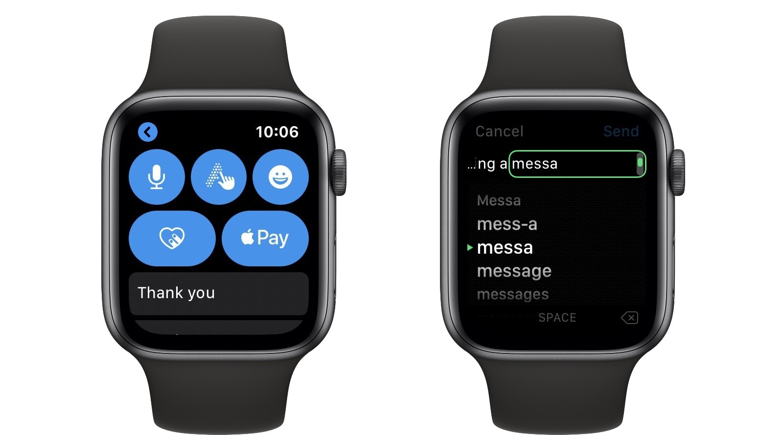 Apple Watch Scribble autocomplete is as confusing as it looks.
