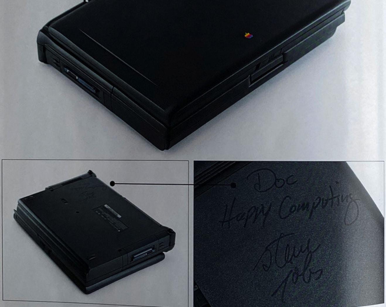 Steve Jobs laptop signed