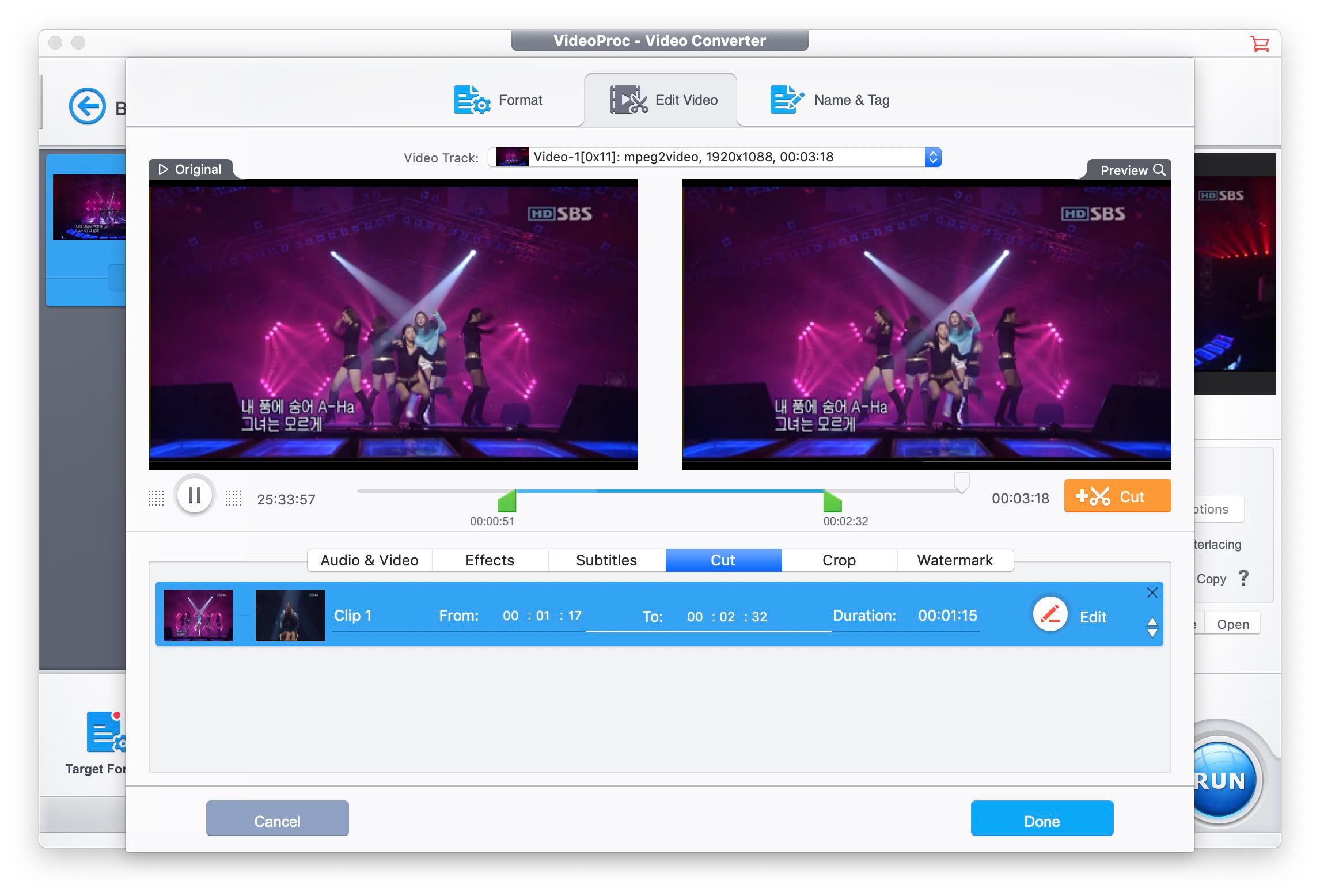 VideoProc gives you crucial tools for video editing.