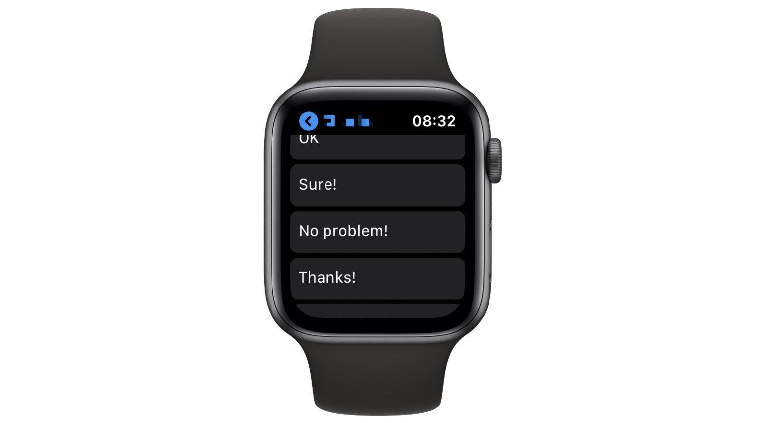 Change the lame Apple Watch smart replies by adding custom replies.