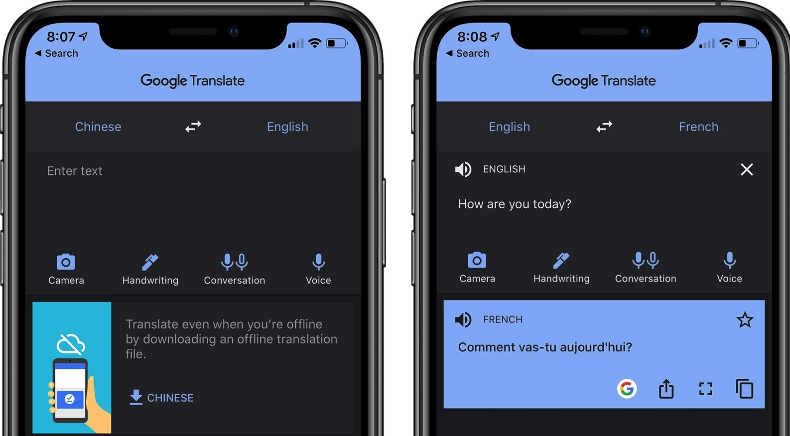 Mode sombre: Google Translate app finally gets Dark Mode option