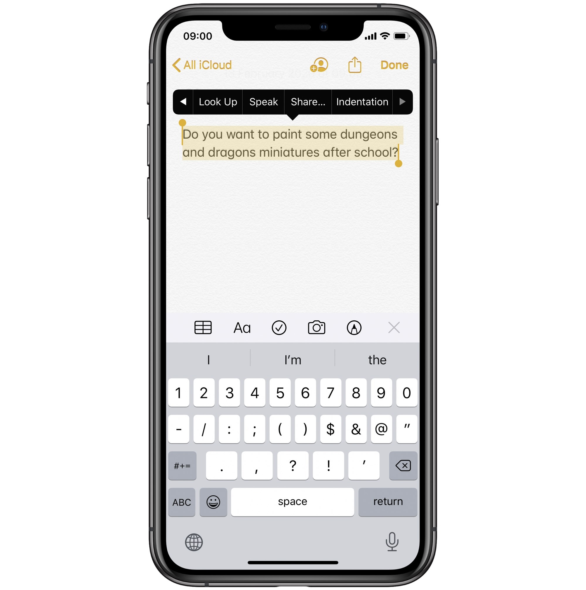 Speak any text, from anywhere on your iPhone.