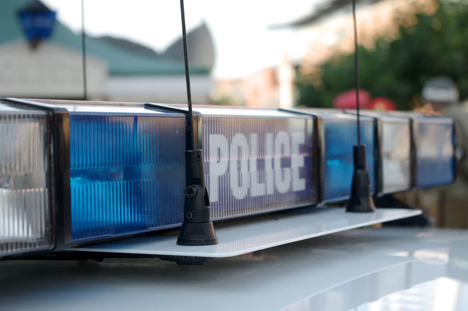 police lights for crime stories