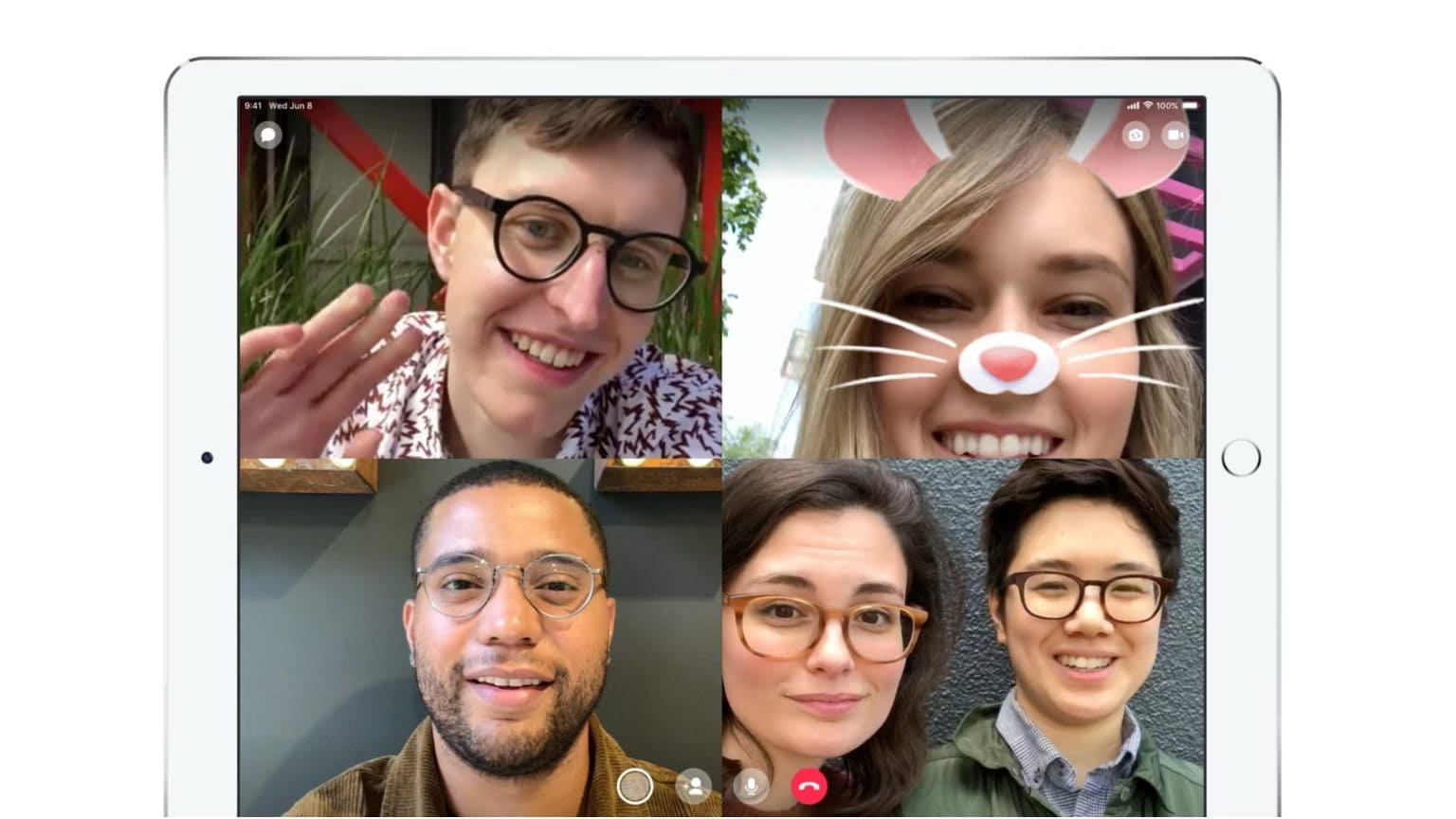 Facebook Messenger video chat includes augmented reality.