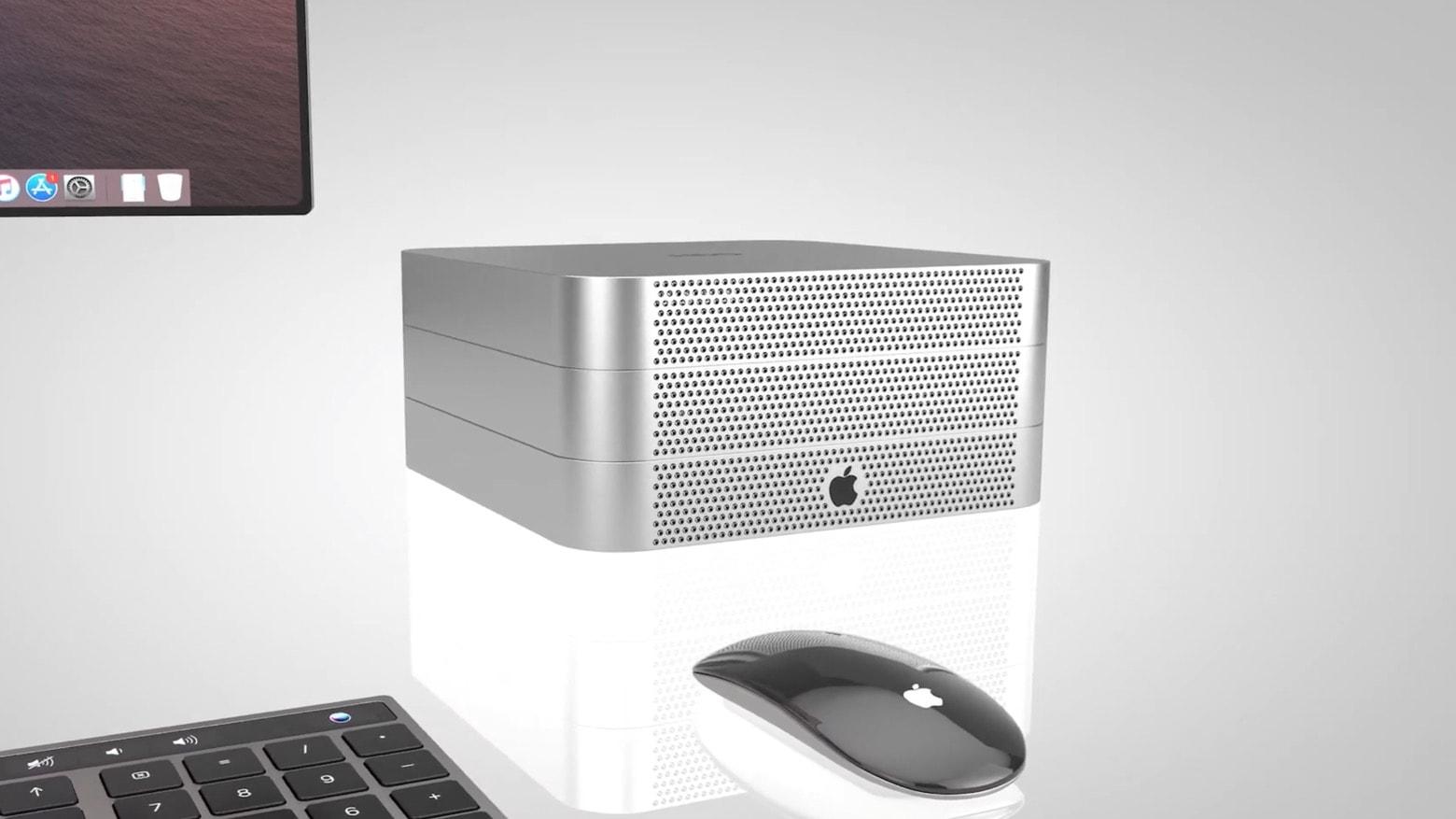 This Mac mini Pro concept is very modular.