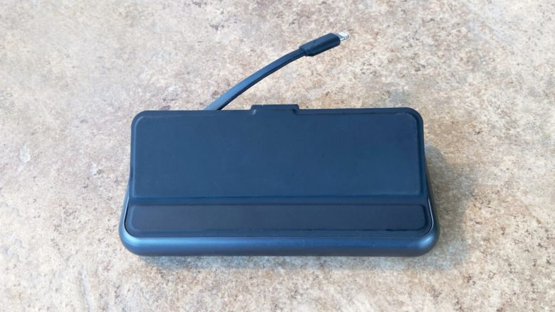 A very useful features of the Mophie Powerstation Plus XL Wireless is its Lighting cable.