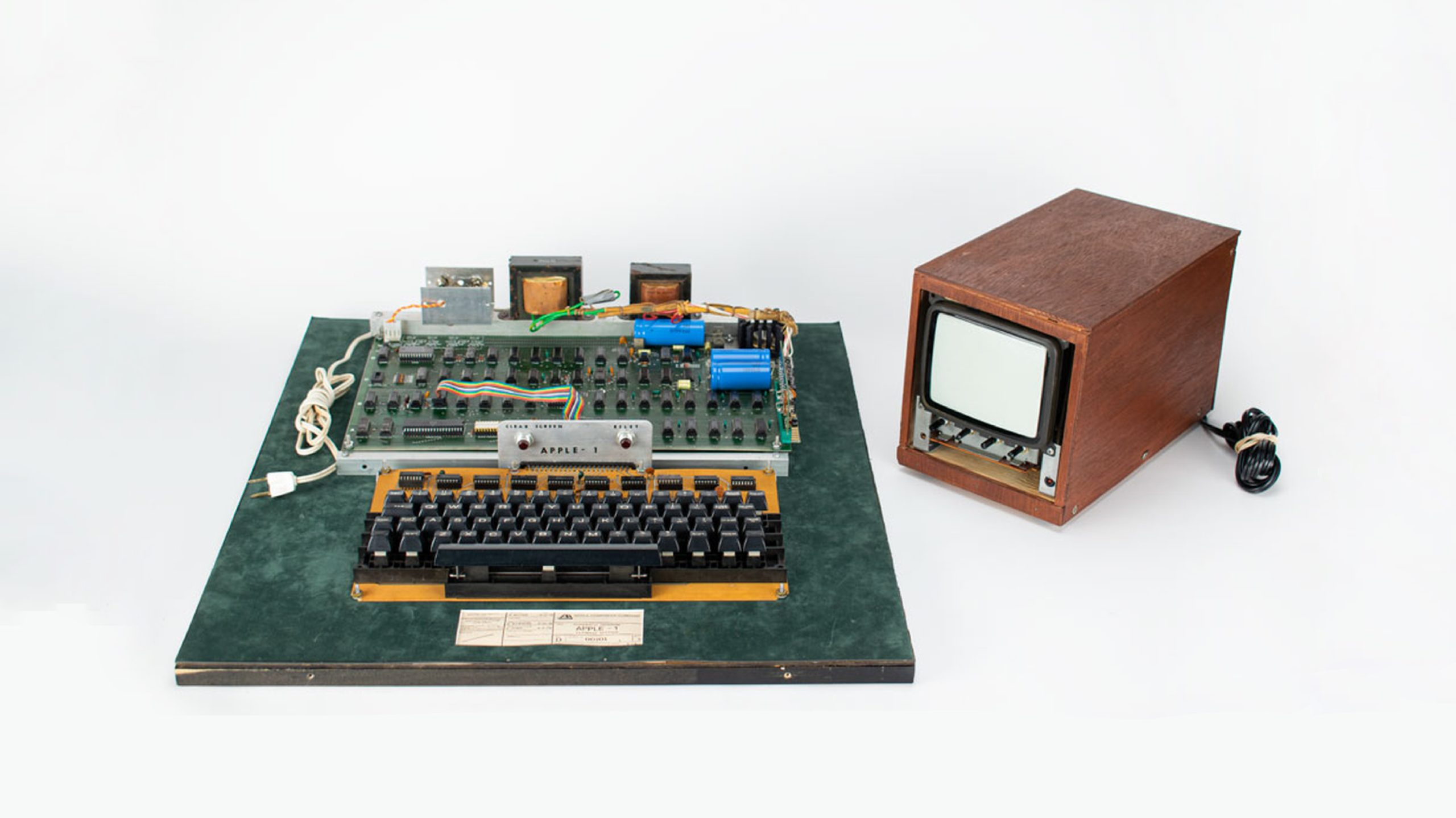 Apple-1 auction netted almost half a million dollars.