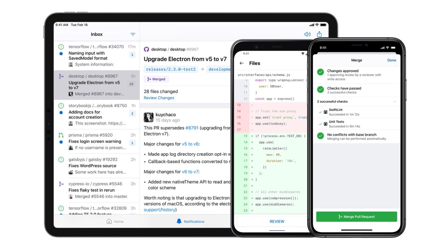 GitHub for mobile launches for iOS and Android