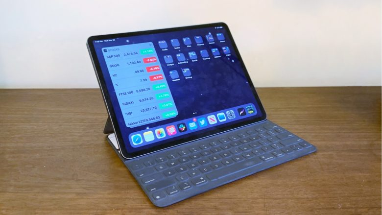 2020 iPad Pro with Apple Smart Keyboard Folio.