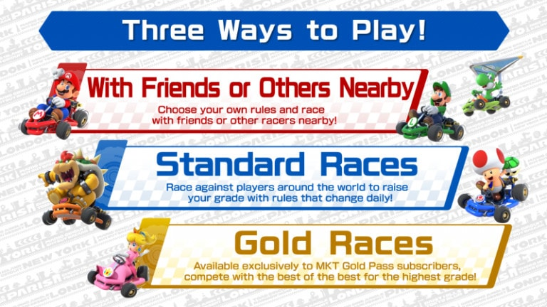 Multiplayer mode for Mario Kart