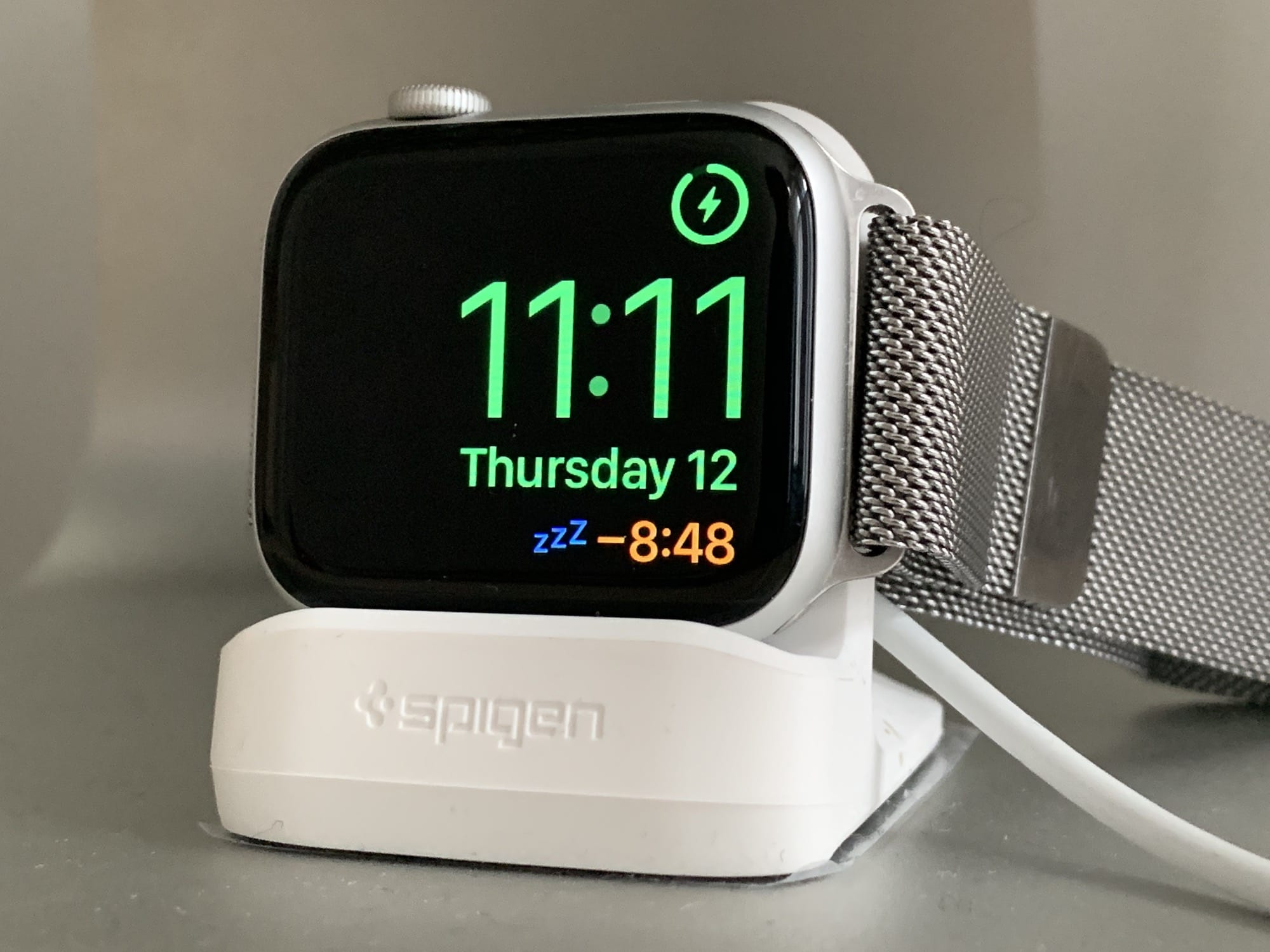Zzzzzz. The Apple Watch's nightstand mode even has snooze.